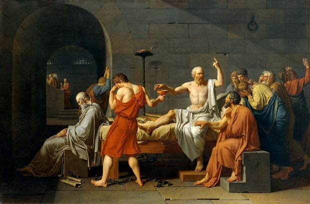 De dood van Socrates Jacques-Louis David