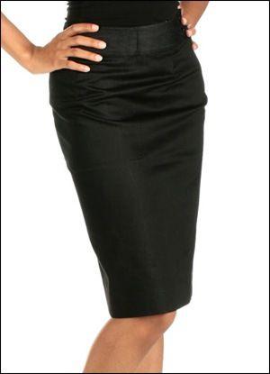 A jupe crayon noire