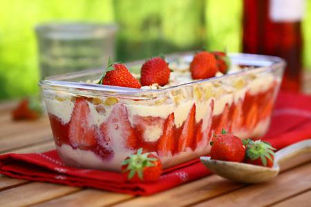pudding fraises