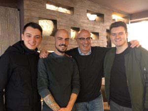 Mario Ajazi, Mattia Congia, Marco Benvenuto e Andrea Verduci