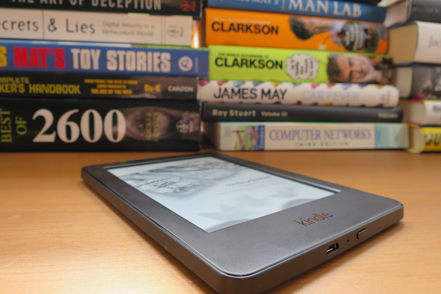 Kindle ebook reader vs. huge book collection