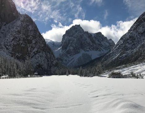 Dolomites under the snow