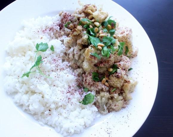 Cauliflower with Tahini