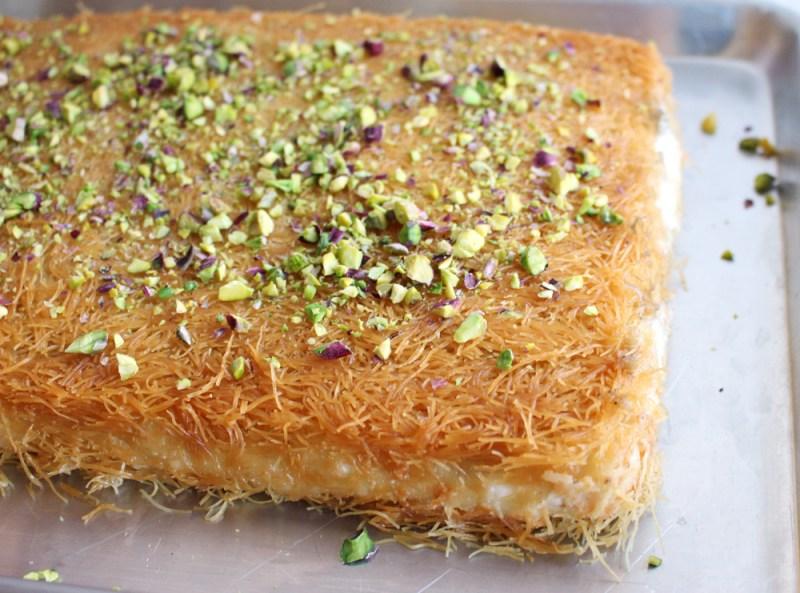 vegan kunafa knafeh kanafeh kanafa arabic mediterranean dessert sweet cheese phyllo baklava recipe food blog zena zaatar zenanzaatar