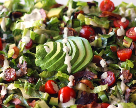 Vegan BLT Salad with Hemp Ranch Dressing (V, GF, Oil-Free)