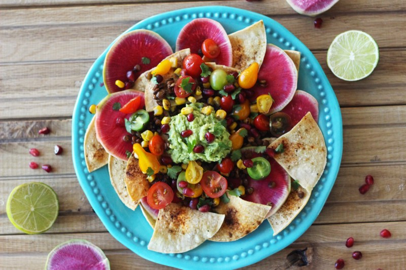rainbow lentil nachos vegan vegetarian gluten free food blog recipe zenanzaatar chipotle cashew queso tortilla chips