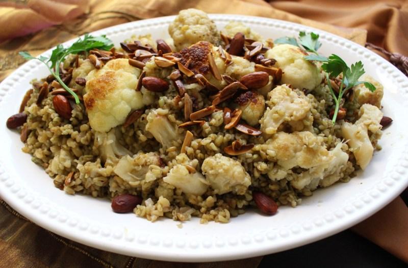 arabic cauliflower freekeh vegan vegetarian mediterranean food blog recipe zenanzaatar syrian lebanese