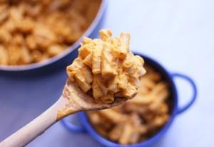 vegan mac and cheese macaroni n sweet potato dairy free gluten vegetarian mediterranean food blog zenanzaatar sweet potato