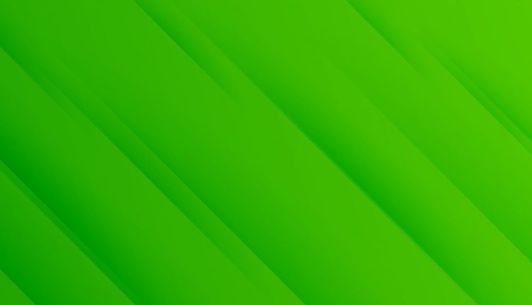 green banner with diagonal stripes pattern design