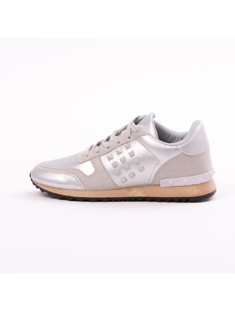 Pantofi Sport Casual UpForRunning Argintiu | zenda.ro