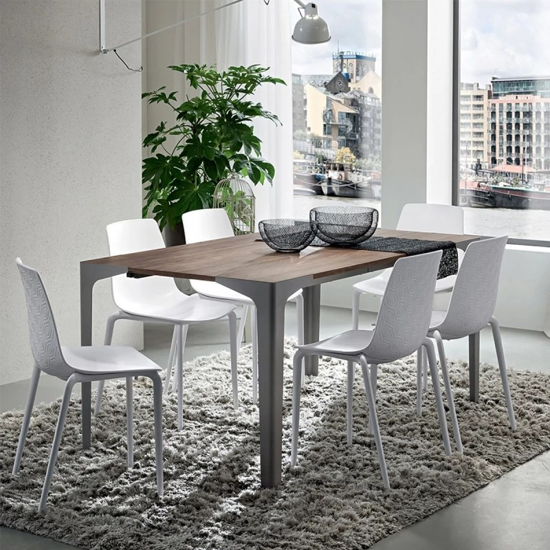 table de repas extensible design ettore fenix 80 90 x 120 222cm par zendart selection