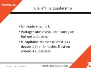 Clé n°1 : leadership