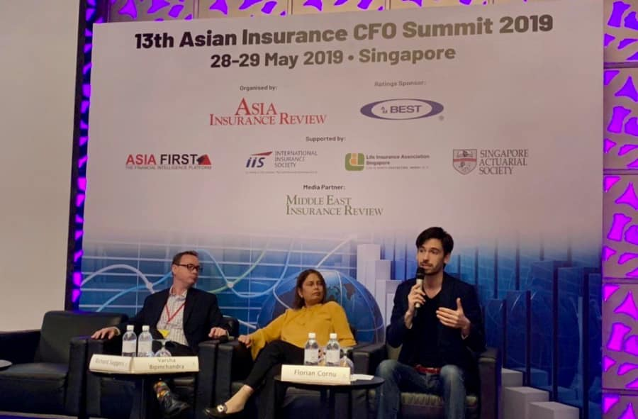 Florian Cornu speaking at Asian Insurance CFO Summit