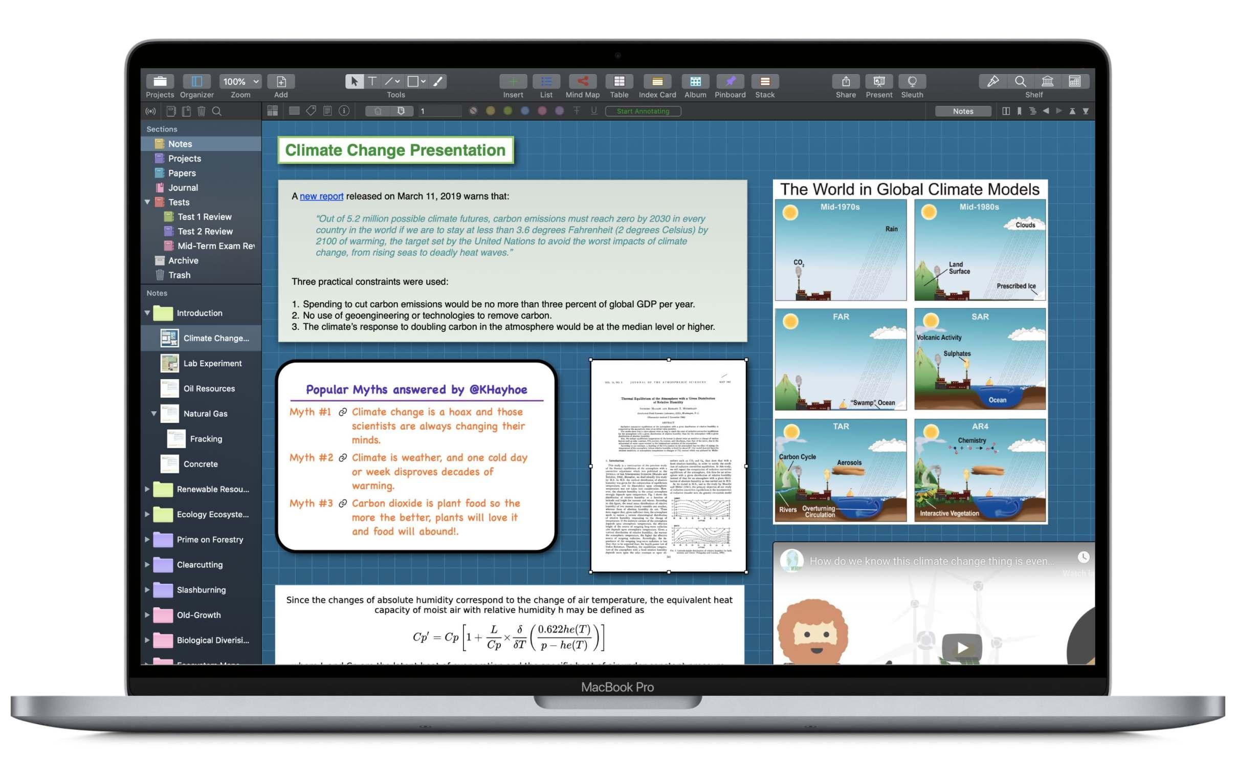 Curio Professional for Mac 12 破解版 - 直观的笔记和思维导图应用