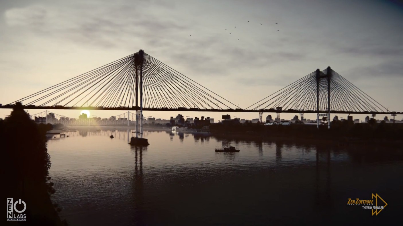 One of Asia's longest cable-stayed bridge in India