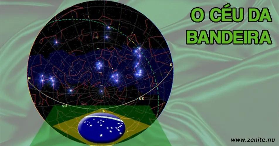O céu da bandeira do Brasil