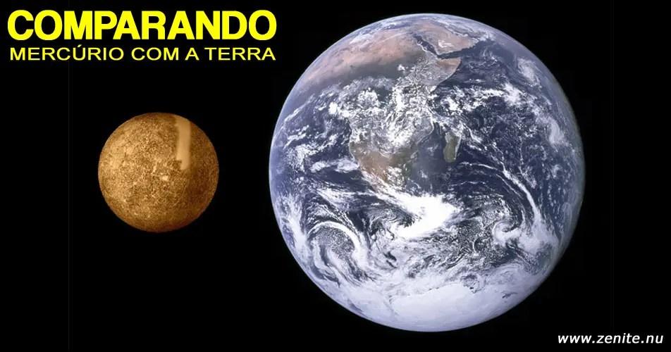 Comparando Mercúrio com a Terra