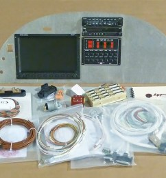 stol ch 750 custom instrument panel kit [ 1600 x 617 Pixel ]
