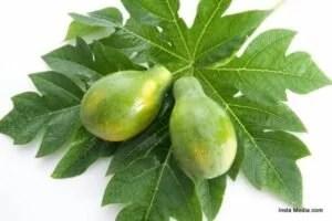 Papaya Leaf and Fruit