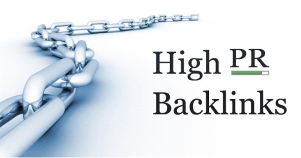 High Page Rank backlinks