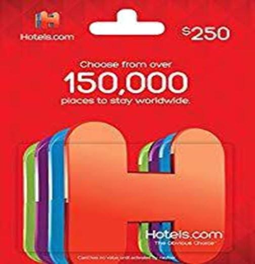Hotel gift card