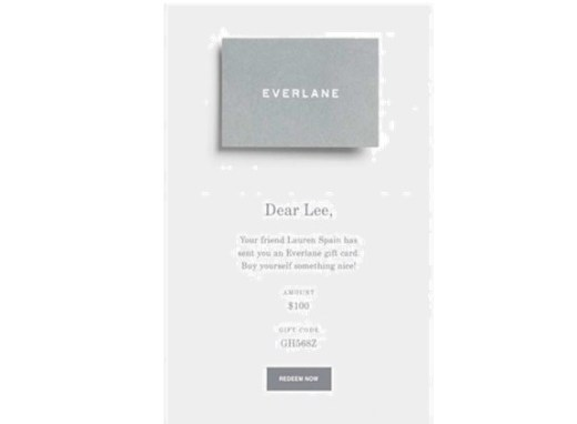 Everlane Christmas gift card idea