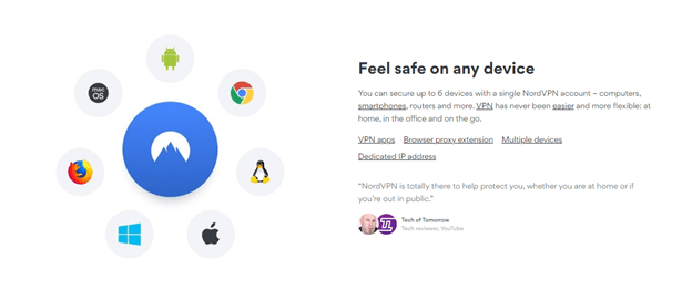 Nord VPN Extension for Chrome Browser features