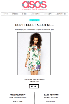 asos Abandonment Cart Emails Templates