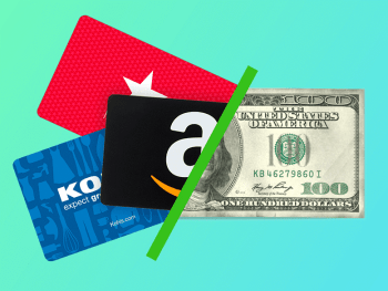 cashing in gift cards