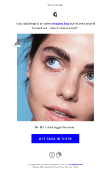 Glossier Abandonment Cart Email Template