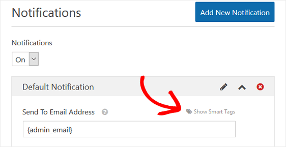 WPForms Email notification
