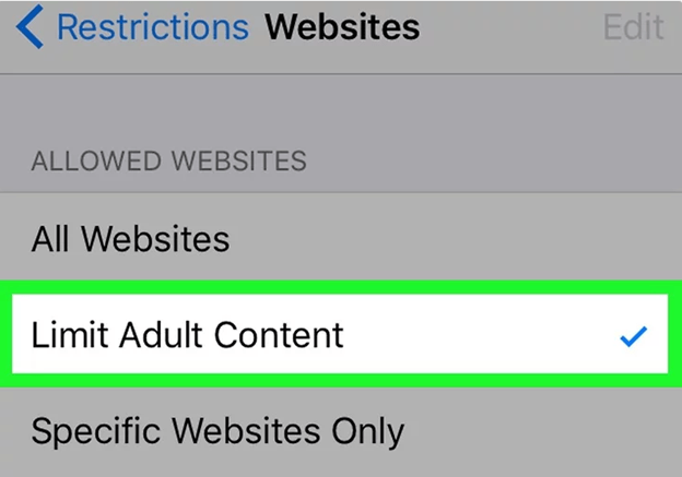 Limit adult content on iphone