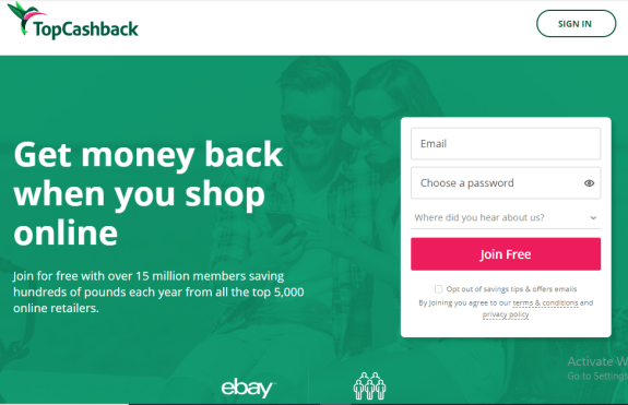 Earn Gift cards on TopcashBack