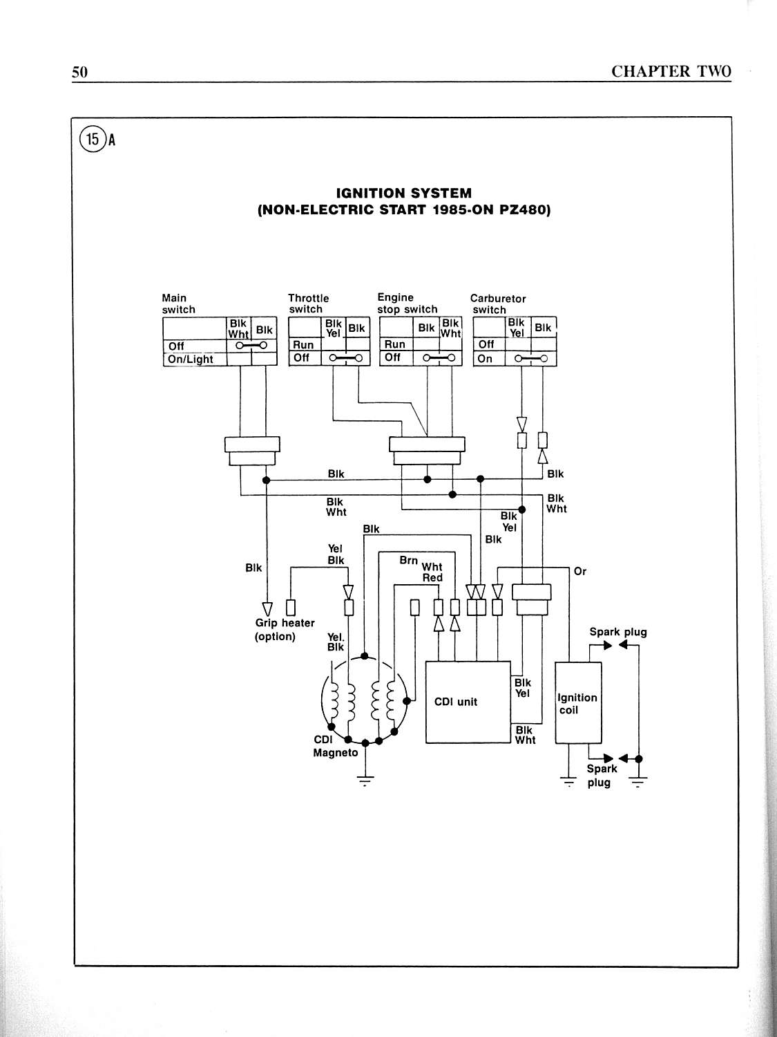 hight resolution of trouble shooting pages includes electrical and lighting system testing for 1984 1989 phazers