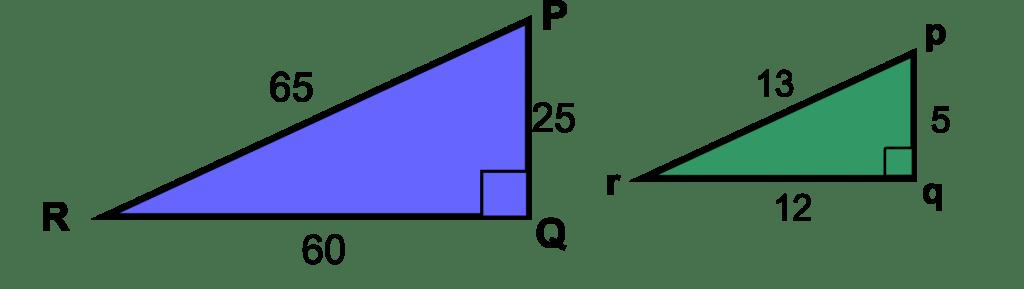 sudut sama pada segitiga yang sebangun
