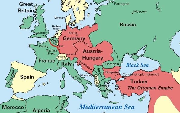 Perang Dunia 1 map pasca