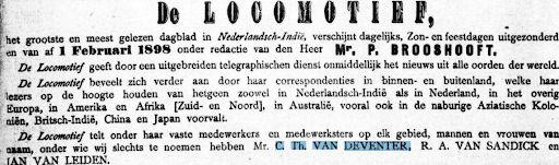 De Locomotief Artikel Contoh