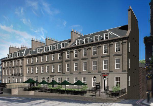 How to use 100,000 Marriott Rewards Points - Courtyard Edinburgh