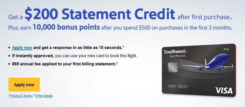 which southwest credit card offer is better ill compare this offer to the - Southwest Visa Credit Card