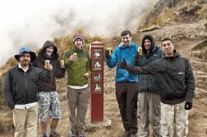 Beers on top of Dead Woman's Pass