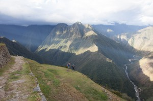 The view from the top of Wiñay Wayna (Quechua for Forever Young) along the Inca Trail.