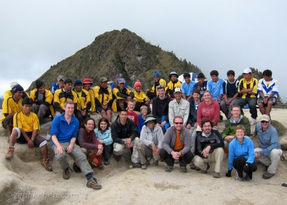 Group shot of all of us on the Inca Trail
