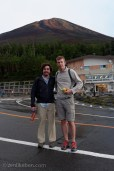 From the base with the summit of Mount Fuji behind us