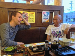 "Eating izakaya with Jiho during one of our ""excursions"""