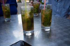 Mojitos at La Esquina De Dragones in Havana Cuba