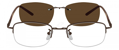 glasses with brown sunshade