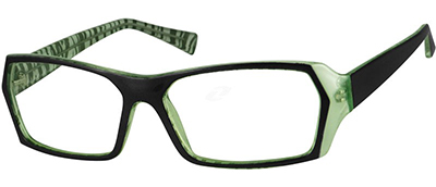 green geometric frames