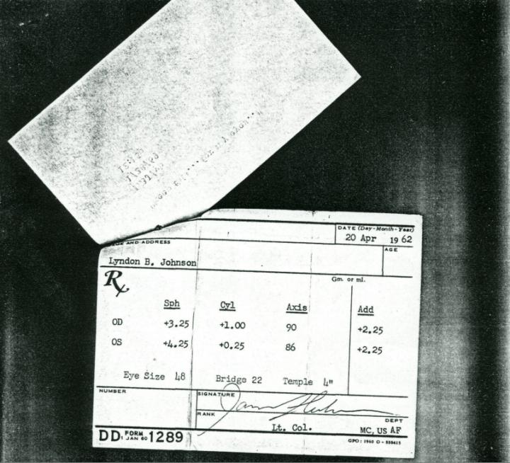 President Johnson Eye Prescription