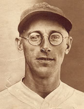 Baseball player with glasses