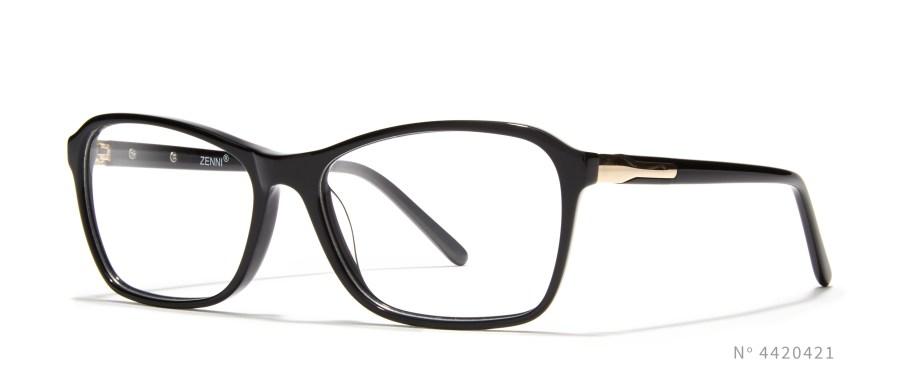Black Angular Cateye Glasses